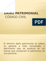 Daño Patrimonial Codigo Civil