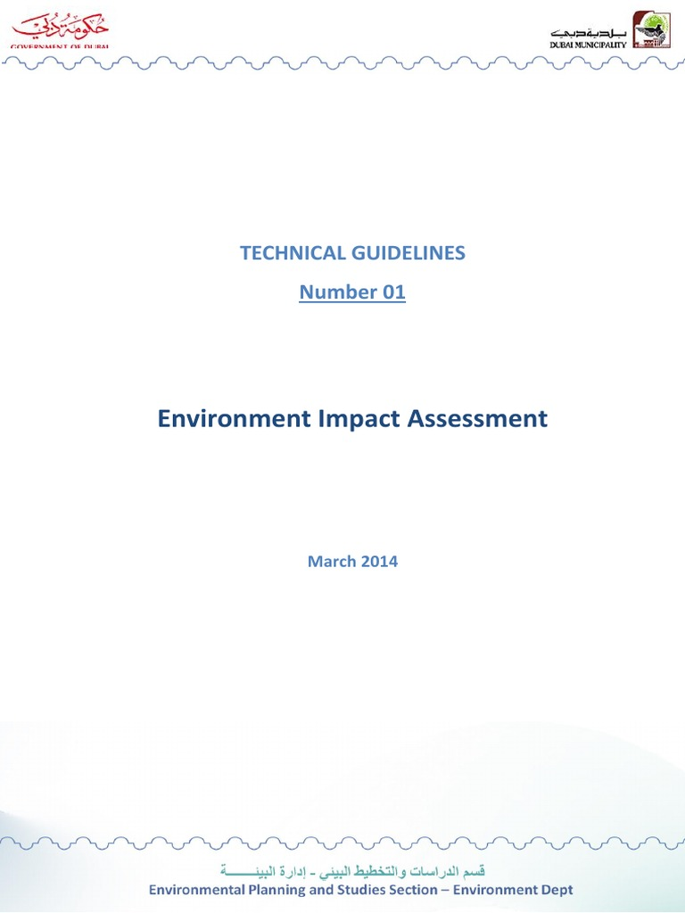 EIA Report Guidelines | Environmental Impact Assessment | Natural
