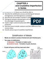 Solidification and Crystalline Imperfection Part 1
