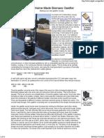 My Home-Made Biomass Gasifier