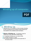 Winding Up of Companies