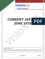 Current Affairs June 2016