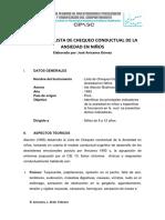 Manual Lista de Chequeo Conductual de La Ansiedad en Niños - Ida Alarcon