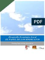 Desarrollo Económico Local. EL PAPEL DE LOS SINDICATOS