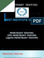 Penetrant Testing Notes