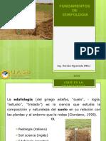Edafología ciencia que estudia la génesis, desarrollo, distribución y clasificación de los suelos.