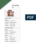 Muhammad Ziaul Haq's Wikipedia
