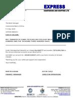 OCTOBER CBA Salary Transfer Letter