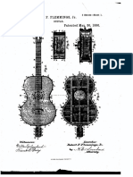 U.S. Patent 338,727, Entitled Guitar, Issued 1886.