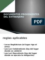 Documentos Provenientes Del Extranjero