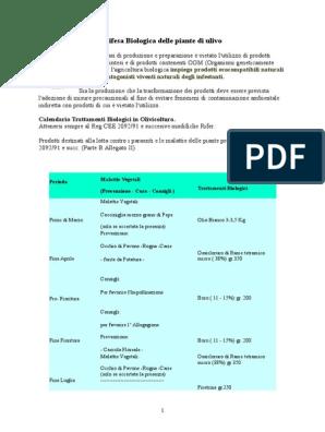 Calendario Trattamenti Olivo Biologico.Difesa Biologica Delle Piante Di Ulivo
