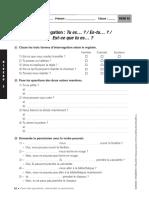 des questions en français