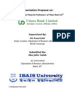 An Evaluation of Financial Performance of Uttara Bank Ltd
