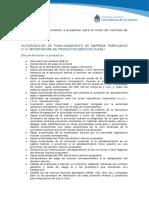 Autorización de Funcionamiento de Empresa Fabricante y Importadora de Productos Médicos Clase I