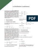 Uniform Distribution (Continuous)