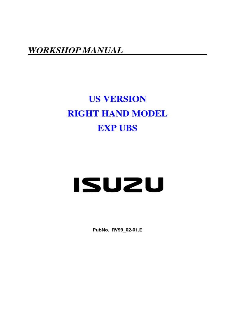 isuzu trooper workshop manual motor oil engines rh scribd com