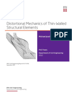 Distortional Mechanics of Thin-Walled Structural Elements