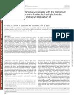 Inhibition of Melanoma Metastases With NAMI-A