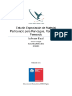 Informe de Especiacion Material Particulado San Fernando