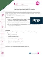 Lenguaje Secuencia Algebra