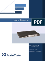 LTRT-68814 Mediant 2000 SIP User's Manual Ver 6.4
