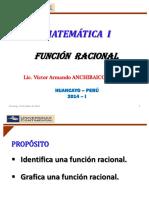 Funciones Racionales - Matemática 1 - 2014-i