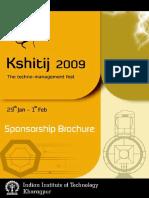 Sponsorship Brochure - Kshitij 2009