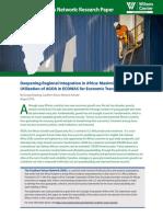 Deepening Regional Integration in Africa