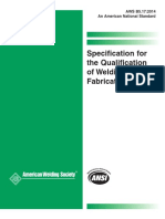 Aws b5.17-2014 - Specification for Qualification of Welding Fabricators