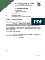 INFORME N°030 REQUERIMIENTO DE UTILES DE ESCRITORIO