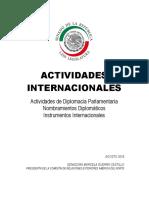 29-08-16 Informe Actividad Internacional Senado de la República Enero-Agosto 2016