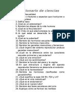 Cuestionario de Ciencias