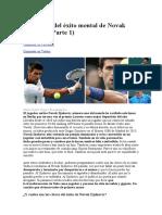 Las Claves Del Éxito Mental de Novak Djokovic