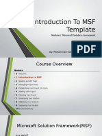 1. Introduction to MSF