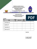 Daftar Hadir Guru