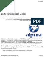 Leche Transgénica en México