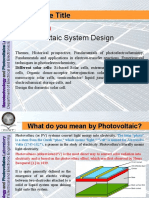 Lecture 01 Introductiton to Photovoltaic