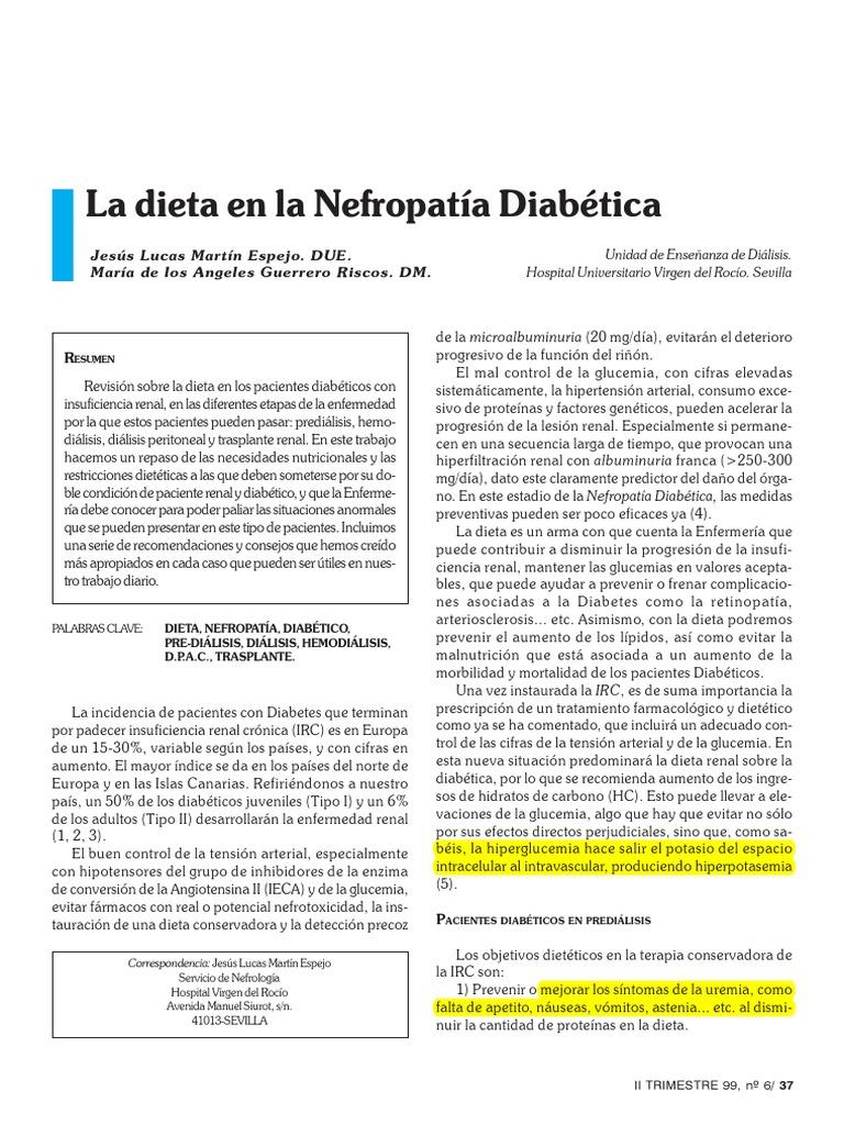 Dieta para irc em hemodialisis