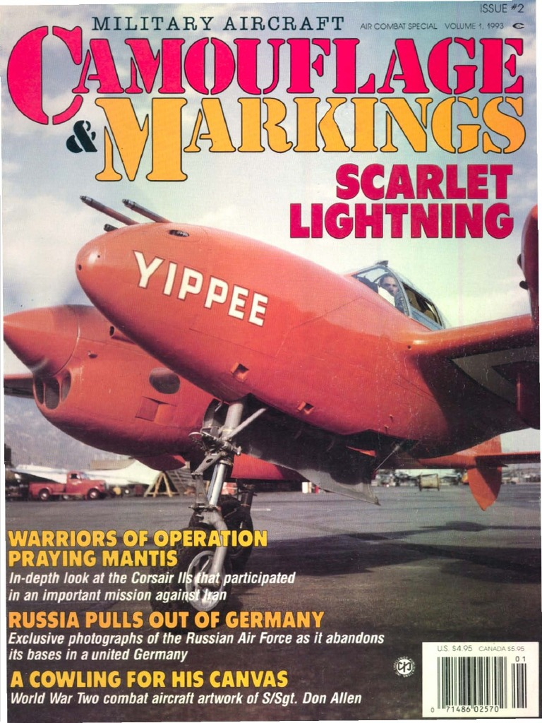 3160dd00363 Air Combat Special 1993 Vol 1 - Military Aircraft Camouflage & Markings No  2 | Military Science | Military