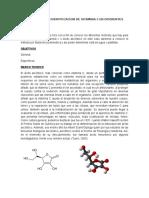 Determinacion e Identificacion de Vitamina c en Diferentes Sustancias