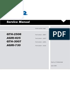 Service Manual: GTH-2506 AGRI-625 GTH-3007 AGRI-730