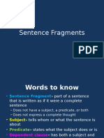sentence fragments lesson
