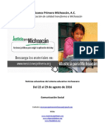 Noticias del sistema educativo michoacano al 29.08.2016