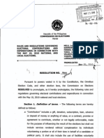 Comelec Resolution 8944- On Electoral Contributions and Expenditures of May 2010 Elections