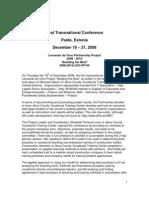Estonian Conference Report