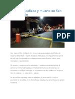 Joven Atropellado y Muerto en San Juan Del Río