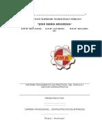 Estructura de Informes de Practicas Profesionales Intermedias