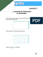 Tema y Ejercicios de Conversion de Fracciones a Numeros Decimales