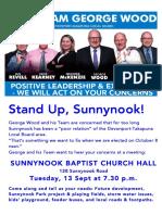 Team George Wood Sunnynook meeting 13 Sept 2016