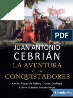 La Aventura de Los Conquistadores - Juan Antonio Cebrian